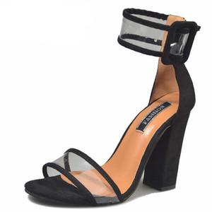 Frauen Sandalen Plattform Gladiator High Heels Klar Schnalle Frühling Sommer Sexy Schuhe Frau Mode Schwarz Blau