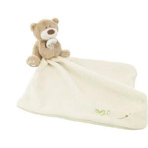 Atacado-Atacado 10pcs / lot Baby Consolador Brinquedo Animal dos desenhos animados urso de pelúcia brinquedos de pelúcia Multifuncional Baby Care