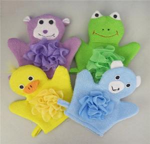 Baby Bath Gloves Lovely Cartoon Children Bath Hand Towel Soft Plush Animals Kids Mitten Rabbit Washing Bath Gloves