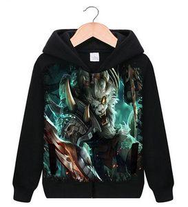 2017 venda quente Homens Cardigan hoodies Liga Herói LOL tema jogo estilo escola de lã 3D impressão digital hoodies