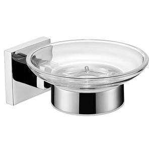Hauptdekoration Sus 304 Edelstahl Bad Seifenhalter Mit Glas Wc Moderne Glatte Quadratische Spiegel Poliert Seifenschale Regal Set
