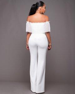 White Pants Off Elegant Womens Jumpsuit Rompers Black 2021 Sale Sexy Lace Shouder Bodysuit Women For Hot Long Outfits Masdo