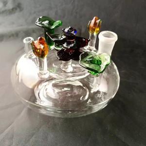 Canteiros de flores acessórios do cachimbo de água, Tubos de água de vidro Tubos de fumar Percolator Bongos de vidro Queimador de óleo Tubulações de água Plataformas de petróleo Fumante com Dro
