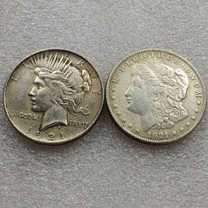 Morgan 1921/1921 Peace Dollar Moneda de dos caras Monedas mágicas interesantes Regalos para el hogar Accesorios Monedas de plata