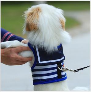 Venda quente cão tração corda peito cinta Marinha estilo marinheiro colete cão cadeia Teddy pequeno cão corda pet suprimentos