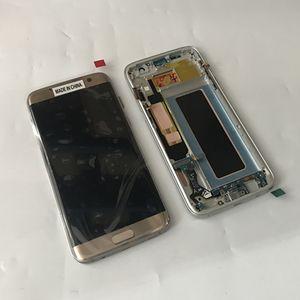 G935 Yeni Orijinal Testi Ile LCD Dokunmatik Ekran Digitizer Çerçeve Meclisi Samsung Galaxy S7 kenar G935A G935F G935V
