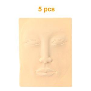 Commercio all'ingrosso 5 pezzi 3D Soft Tattoo Practice Skin Training Skin Lip sopracciglio trucco permanente Skin Tattoo Accessorio per Tattoo principianti