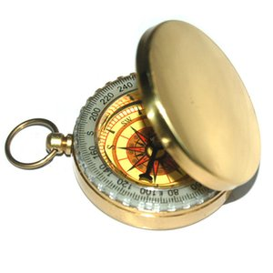 50 PCS Classic R1B1 Brass Pocket Watch Style Camping Compass Hiking