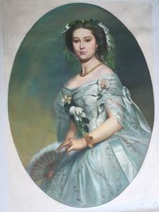 Victoria prinzessin royal von winterhalte, pure handgemalte berühmte porträtkunst-ölgemälde auf leinwand versandkostenfrei, verschiedene Größen versandkostenfrei