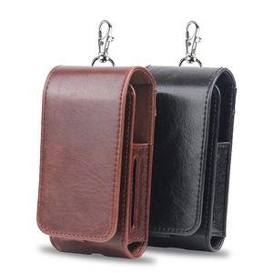 negro marrón colores loco caballo Cuero Cigarrillo Electrónico Accesorios Carrying cover Case para iQOS Electronic Cigarette
