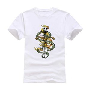 İskelet kılıç 2020 Yeni Elbise Moda Man Günlük Tişört Pamuk O Yaka Kısa Kollu Gevşek Kişiselleştirilmiş eşsiz Erkek Toptan Tees Tops