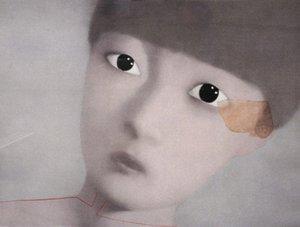 Gerahmte, Viele Großhandel, Reine Handwerk porträts kunst Zhang Xiaogang ölgemälde auf Hohe Qualität leinwand Baumwolle leinen Multi größen, R195 #