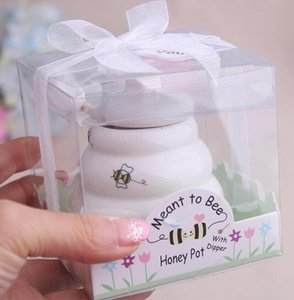 """80PCS """"من المفترض أن النحل"""" السيراميك وعاء العسل هدية الزفاف الخزف جرة العسل هدايا الزفاف ومستلزمات تفضل"""
