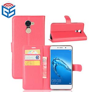 Vendita calda Premium PU portafoglio con slot per schede Custodia in pelle per Huawei Y7 Prime Enjoy 7 Plus 7Plus