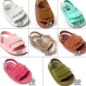 여름 아기 moccasins Tassels 아이 신발 베이비 신발 샌들 첫 워커 신발 소년 소녀 신발 2017 새로운 디자인 Multy 색상
