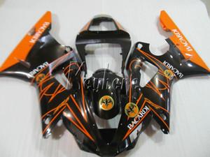Yamaha için düşük fiyat vücut parçaları kaporta kiti YZFR1 2000 2001 turuncu siyah kaportalar set YZF R1 00 01 IT26