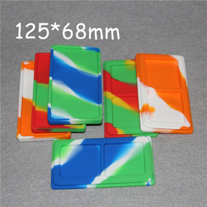 5pcs 1+1 Flat Large Waxmates Containers Big Silicone Rubber Silicon Storage Square Shape Wax Jars Dab Concentrate Tool Dabber Oil Holder