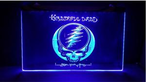 B247 Grateful Dead логотип пивной бар паб 3d вывески из светодиодов неоновый свет знак домашнего декора ремесла