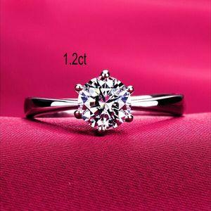 Nunca se desvanece el anillo de plata 1.2ct S925 de los hombres 18K chapado en oro blanco real Flechas CZ Anillo de boda para los amantes de los diamantes