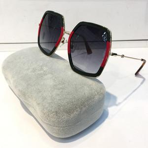 Fashion Luxury Women Designer Occhiali da sole 0106 Square Big Frame Summer generoso stile montatura a colori misti Lente di protezione UV di alta qualità 0106S