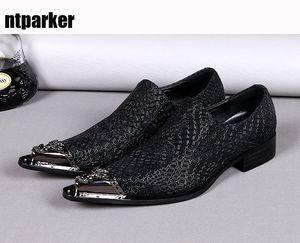 Luxus herren oxfords schuhe leder wies eisenspitze männer leder kleid schuhe schwarz business und party zapatos de hombre, große größen