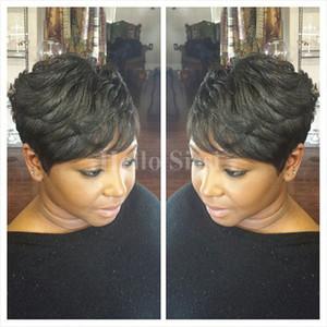 Kurze Haare Perücken Lace Pixie brasilianische Haar Perücken Günstige menschliche beste Haar Spitze vorne volle Spitzeperücken für schwarze Frauen