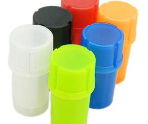 Direct nouvelle meuleuse à fumée en forme de bouteille en plastique 46 * 90mm, réservoir scellé deux dans une rectifieuse Grinder