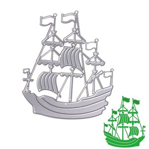 Ship Metal Cutting Dies Stencil DIY Scrapbooking Álbum Tarjeta de Papel En Relieve Craft Gift