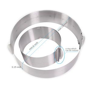 Формы для выпечки регулируемый круг из нержавеющей стали мусс кольцо, 6-12 дюймов, выпечки инструмент для торта ко дню рождения, партия