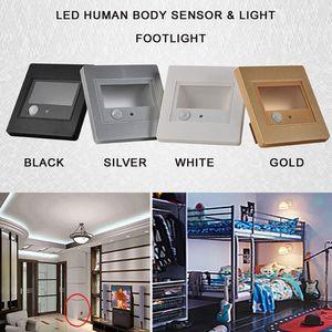 2.5W LED 인간의 몸 빛 센서 벽 받침대 최근의 계단 Footlight Corridor Lamps 호텔 화장실 침실 야간 조명