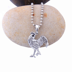 Fashion New Styles Necklace Steel Necklace Jewelry Austrian Rooster Sailver Crystal Tone Charm Women Pendant Stainless High Quality Col Vskf