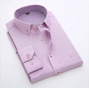 Summer Long Sleeve Solid Color Shirt Mens Business Causal Shirts Slim Fit Work Formal Dress Shirts Groom Wedding Shirt
