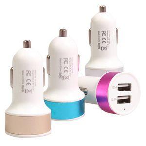 Caricatore USB per auto 5V 1A 2 porta USB Adattatore per auto a colori con porta USB