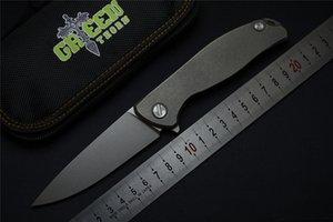 Зеленый шип Широгоров F95 тактический Флиппер складной нож D2 лезвие TC4 титана плоской ручкой открытый выживания нож охота кемпинг EDC инструмент