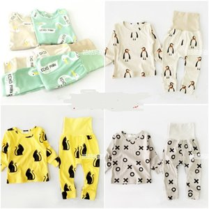 Wholesale- 15COLORS BOBO CHOSES 아기 소년 의류 의류 소녀 아이들 잠옷 세트 Vetement enfant garcon kikikids PENGUIN PANDA 그리스도