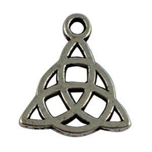 120 fascini celtici in argento tibetano con nodo triangolare A16269