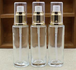 Transparenter Glasparfüm-Zerstäuber leerer kleiner Sprühflasche 50ml 30ml reiner Tau Feuchtigkeitscreme-Wasserbehälter