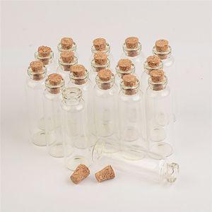 16X50X6 mm 5ml trasparente trasparente piccole bottiglie di vetro con mini bottiglie di sughero contenitori di piccole fiale Carino bottiglia di desiderio