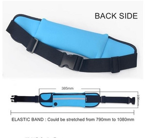 Universal Waterproof Sports Running Waist Pocket Reflective stripe Bag Gym Pouch Belt Case Bag For running cycling phone pouch