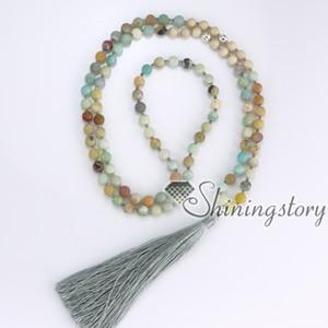 108 Mantra Meditation Perlen indischen buddhistischen tibetischen Hindu Gebetskette Halskette Yoga Mala Perlen Halskette Yoga Heilung spirituellen Schmuck