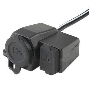 Caricabatteria da moto per moto 12V DC impermeabile per motocicli, caricabatterie USB 2.1A 5V universale