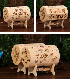 الخشب البنك أصبع طالب عملة صناديق تخزين فريدة الصناديق صناديق المال أصبع البنك الإبداعية خشبية هدية زخرفة المنزل
