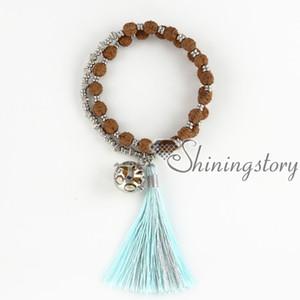 nappa gioielli tibetano preghiera perline braccialetto di olio essenziale diffusore medaglione gioielli yoga mala braccialetto yoga