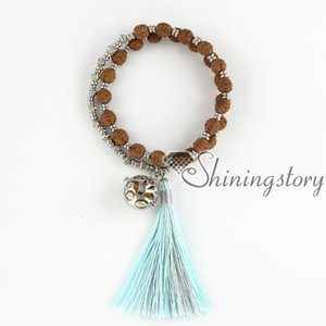 Quaste Schmuck tibetischen Gebetskette ätherisches Öl Armband Diffusor Medaillon Schmuck Yoga Mala Armband Yoga