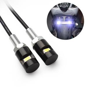 2 Adet Araba Motosiklet Numarası Plaka Işıkları 12 V LED 5630 SMD Oto Kuyruk Ön Vida Cıvata Ampuller Lambaları Araba Styling Işık Kaynağı