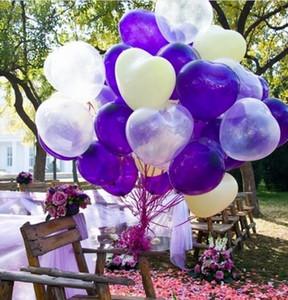 Eco-Friendly 100PCS 30 cm en forma de corazón de la perla grande Globo Látex 4 Estilo 12 pulgadas fiesta de la boda del partido TE AMO palabras Propuesta
