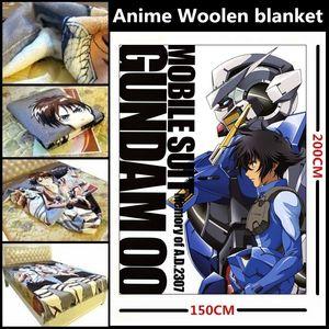 Anime / Mobile Suit Gundam 00 / Gundam Doppel-O Setsuna F Seiei Verbrennungs Ausgabe Schöne velveteen Wolldecke / Bett Auskleidungen