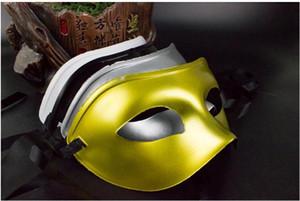 Maschera da uomo Maschera in maschera Maschere veneziane Maschere da maschera Mezza maschera di plastica Multicolore opzionale (Nero, Bianco, Oro, Argento)