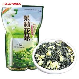 250g Té verde orgánico chino Principios de la primavera Flor de jazmín Té crudo Cuidado de la salud Nuevo té de primavera Embalaje de tiras de sellado de alimentos verdes