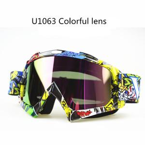ManWomen Motocross Lunettes Lunettes MX Hors Route Lunettes Ski Sport Gafas pour Moto Dirt Bike Racing Goggle